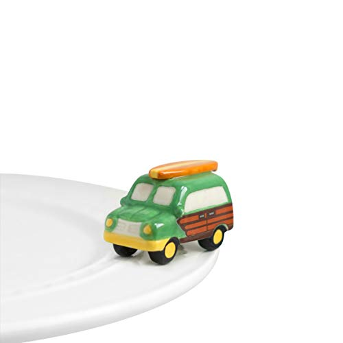 Nora Fleming Hand-Painted Mini: Surf's Up (Woody Wagon) - Hand Decor Painted Surf