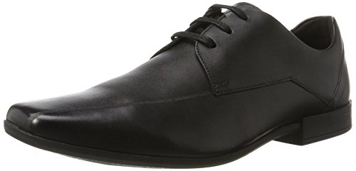 Clarks Glement Over, Derbys Homme Noir (Black Leather -)