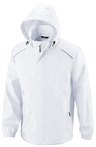 e Seam-Sealed Lightweight Variegated Ripstop Jacket (88185)- White 701,Large (Waterproof Comfort Core)