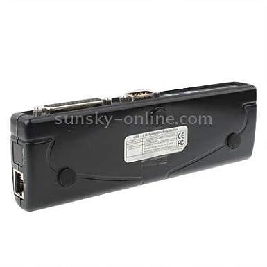 Color : Black JINYANG Superior Hi-Speed USB 2.0 Docking Station with 8 Port 2xUSB 2.0 + PS2 Mouse + PS2 Keyboard + RS232 + DB25 + LAN + Upstream ,Black