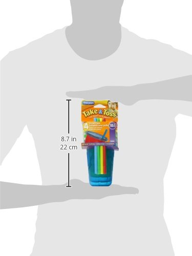 Large Product Image of The First Years Take & Toss Spill-Proof Straw Cups - 10Oz, 4 Pack