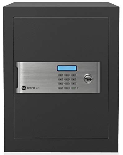 Yale Safe YSM/520/EG1 Coffre-Fort de Haute Sécurité avec Serrure électronique et Clés, Anthracite Gris