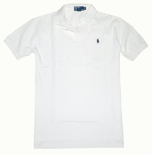 Polo Ralph Lauren Classic Fit Mesh Pony Logo Polo Shirt (X-Large, - White Lauren Ralph Polo