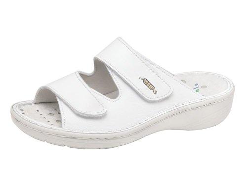 nbsp;professionnelle CE antidérapant Femme cuir de antistatique Abeba Chaussures 6809 20347 ISO en Chaussures en blanc travail YqwxUS