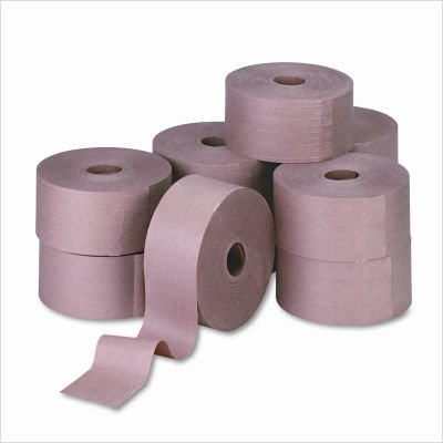 United Facility Supply 44HD007 Reinforced Gummed Kraft Sealing Tape, 3 x450 ft, 10 Rolls per Carton