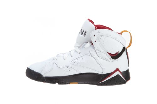 Nike Air Jordan 7 Retro (gs) Jeugd Basketbalschoenen Wit, Bronze-cardinal Red Blk