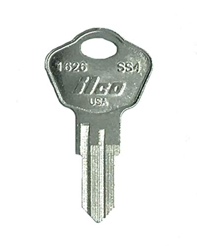 Kaba SS4 Sentry Safe Key, Nickel Plated Brass, Pack of 10