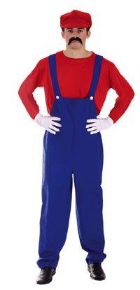 Child Plumbers Mate Costume Boys Girls Super Mario Luigi Fancy Dress Kids Outfit