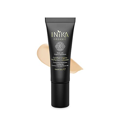 INIKA Certified Organic Perfection Concealer, All Natural Flawless Make-Up Base, Lightweight Formula, Hypoallergenic, Halal10 ml (Medium)