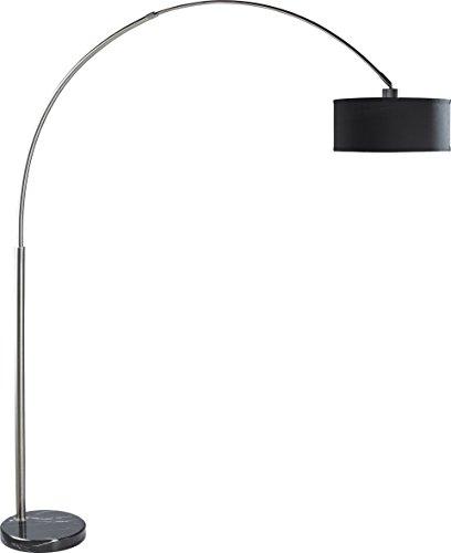 Milton Greens Stars Sophia Adjustable Arc Floor Lamp with Marble Base, 81-Inch, Black Black Marble Floor Lamp