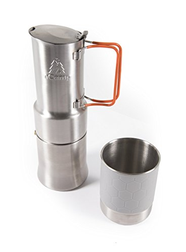 Compact Espresso-Style Café/Coffee Maker For Camping Hiking Backpacking/Compact and Lightweight by nCamp