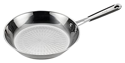 T-fal E75905 Performa Pro Stainless Steel Dishwasher Safe Oven Safe Fry Pan Saute Pan Cookware, 10.5-Inch, Silver