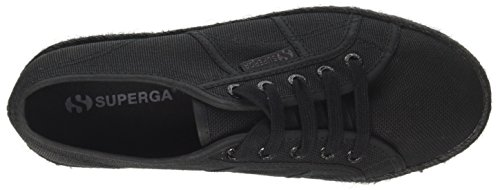 Superga Dames 2790 Cotcoloropew Canvas Trainers Zwart