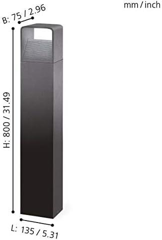 EGLO LED Außen-Stehlampe Doninni, 1 flammige Außenleuchte, Pollerleuchte aus Alu, Kunststoff, Farbe: Anthrazit, weiß, IP44
