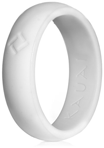 Women White Collection (KAUAI - Silicone Wedding Rings - Leading Brand, from the Latest Artist Design Innovations to Leading-Edge Comfort: Pro-Athletic Ring and Kauai Elegance Collection for Women)