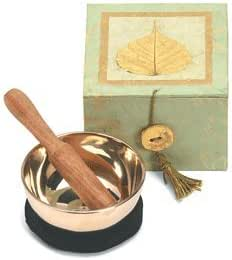 Bodhi Leaf Celadon Swirl Meditation Bowl And Box Musical Instruments