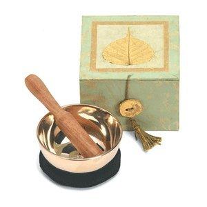 Bodhi Leaf Celadon Swirl Meditation Bowl and Box