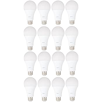 Image of AmazonBasics 100 Watt Equivalent, Daylight, Dimmable, A21 LED Light Bulb | 16-Pack Home Improvements
