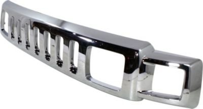 Evan-Fischer EVA177030313476 Grille Assembly Chrome Without emblem provision; Replaces OE# 15834196 and Partslink# HU1200101 Hummer H3 (Hummer Grille compare prices)