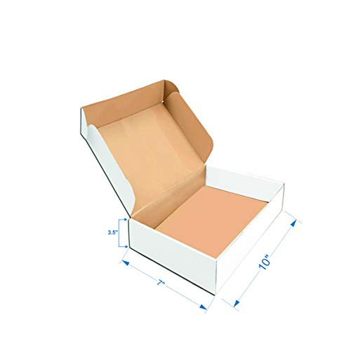 EZELLOHUB White Packaging Flat Corrugated Boxes 10 x 7 x 3.5 inch 3 Ply Pack of 25 Carton Boxes for Moving/Shipping/Storage/Heavy Duty use: Amazon.in: Industrial & Scientific