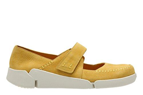 Clarks Tri Amanda - Zapatos de cordones de Piel para mujer amarillo amarillo