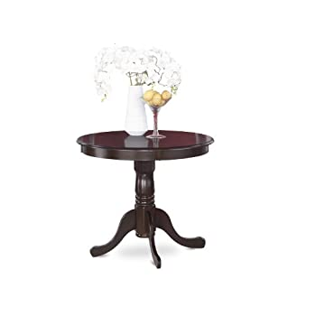 East West Furniture ANT-CAP-T Round Table, 36-Inch, Cappuccino Finish