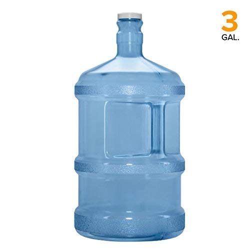 Polycarbonate Durable Bottle (Polycarbonate Plastic Reusable Water Bottle Container (Made in USA) (3 Gallon (Tall)))
