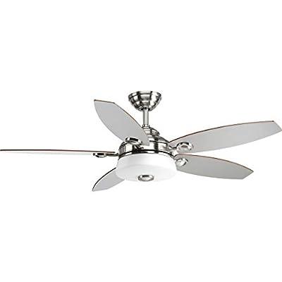 "Progress Lighting P2544-0930K Graceful Collection 54"" 5 Blade Fan with LED Light"