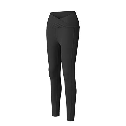 Crossover-legging voor dames V-vormige hoge taille Butt Lift Houd je heupen Legging Naadloze yogabroek