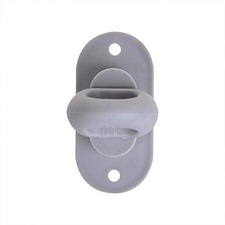 MENGE w/ählbar Kunststoff Menge:6 ST/ÜCK grau 42x22mm Drehverschluss f/ür Oval/ösen
