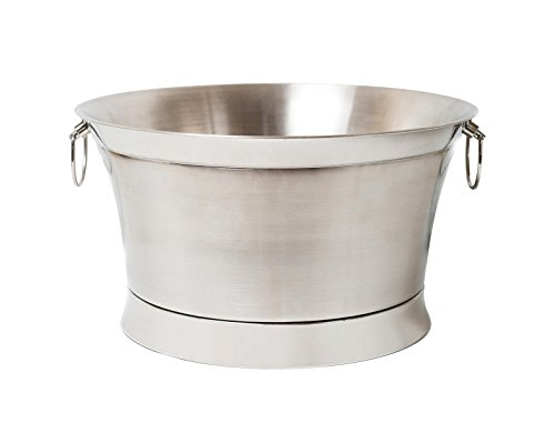 - BirdRock Home Double Wall Round Beverage Tub - Stainless Steel - Small