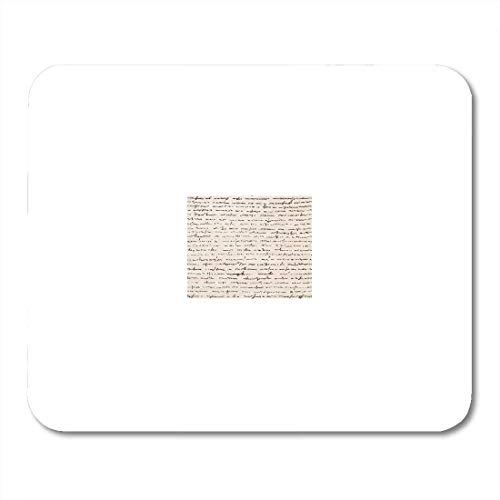 VANKINE Mouse Pads Cursive Letter Retro Vintage of Text Script Manuscript Old Antique Mouse pad 9.5