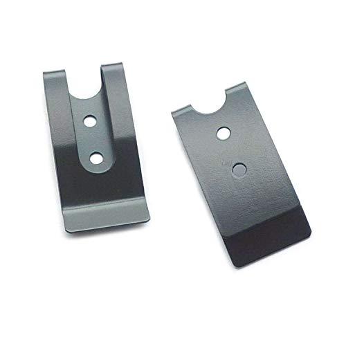 Bluemoona 4 Sets - Metal 54x25mm Holster Sheath Belt Clip Clasp Spring Buckle Hook Double Holes Black