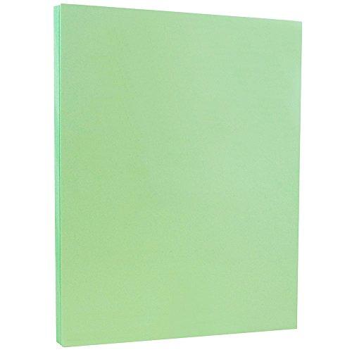 JAM PAPER Vellum Bristol 67lb Cardstock - 8.5 x 11 Coverstock - Green - 50 Sheets/Pack