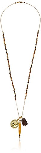 Chan Luu Long Beaded Charm Pendant Necklace, 32""