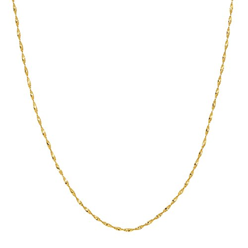 Eternity Gold Twisted Herringbone Chain Necklace in 10K Gold