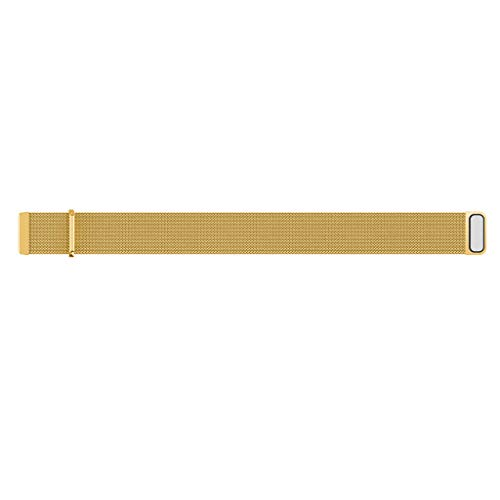 Ansenesna Watch Bands for Men Milanese Magnetic Loop Stainless Steel Band Bracelet for Fitbit Versa Lite (Gold)