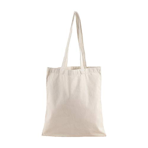 - 2 Pack Heavy Natural Canvas Tote Bags with Long Handles Canvas Bags Reusable Grocery Bags Canvas Shopping Bags Craft canvas bag (15.7