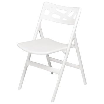 6 X Chaises Bolero Blanc Pliable Polypropylene Chaise Bistrot Cafe