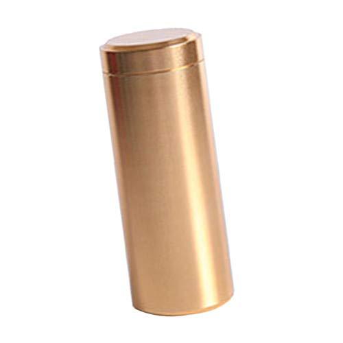 (Anti-Damp Aluminum Alloy Tin Canister Kitchen Tea Sugar Coffee Storage Box Jar - Gold SoundsBeauty )