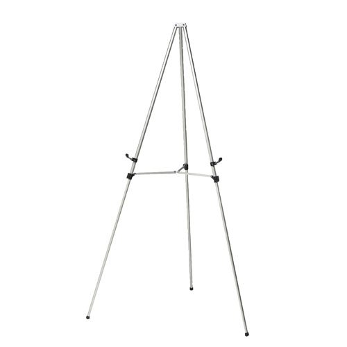 Ghent Telescoping Easel - Satin Aluminum 3 Leg