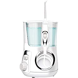 ROBDAE Water Flosser Water Flosser Pressure Settings High Capacity Oral Irrigator with Multifunctional Tips for Family Power Dental Flossers (Color : White)