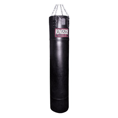 Ringside 100 lb Leather Muay Thai Boxing MMA Fitness Workout Training Kicking Punching 100 lb Heavy Bag - Filled by Ringside