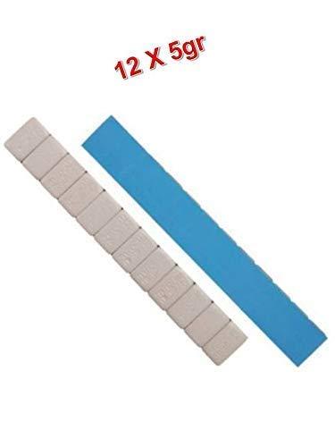 EQUIPEMENT EXPRESS SICOBA Lot de 100 Barrettes de Plombs Adh/ésifs Equilibrage Roue Jante Alu 12x5gr