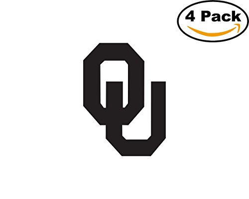 [Oklahoma Sooners BW University Vinyl Sticker Decal Logo NCAA 4 Bumper Window Stickers 4X4] (Oklahoma Sooners Salt)