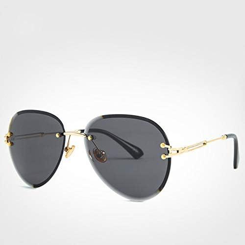 HUANGH polarisées rétro lunettes lunettes De Soleil Sans Monture FemmesUv400 Lunettes De Soleil Pour Dames Lunettes Shades, Lunettes De Soleil Noires, Avec Ensemble DeColis
