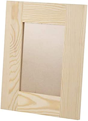 Amazoncom Unfinished Wood Frame 2 Pack Wooden Picture Frame