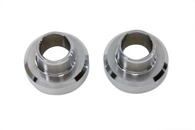 V-Twin 24-0119 - Chrome Fork Neck Cup Set with - Bearing Axle Rear Cup
