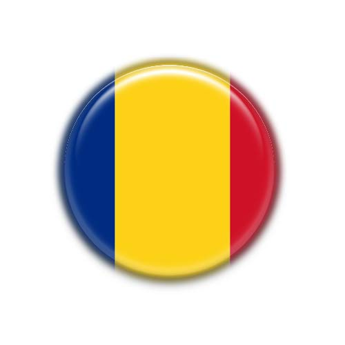 Rumania : Bandera Nacional, Pinback Button Badge 1.50 Inch (38mm)