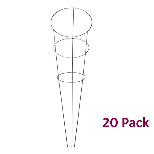MTB Galvanized Steel Tomato and Plant Support Cage 33 inch, Pack of 20